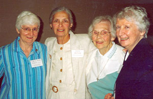 Anne Butler (2nd from left) is pictured with sisters (l to r) Carol Marie Wildt, Marie Kevin Mueller, and Catherine O'Connell.
