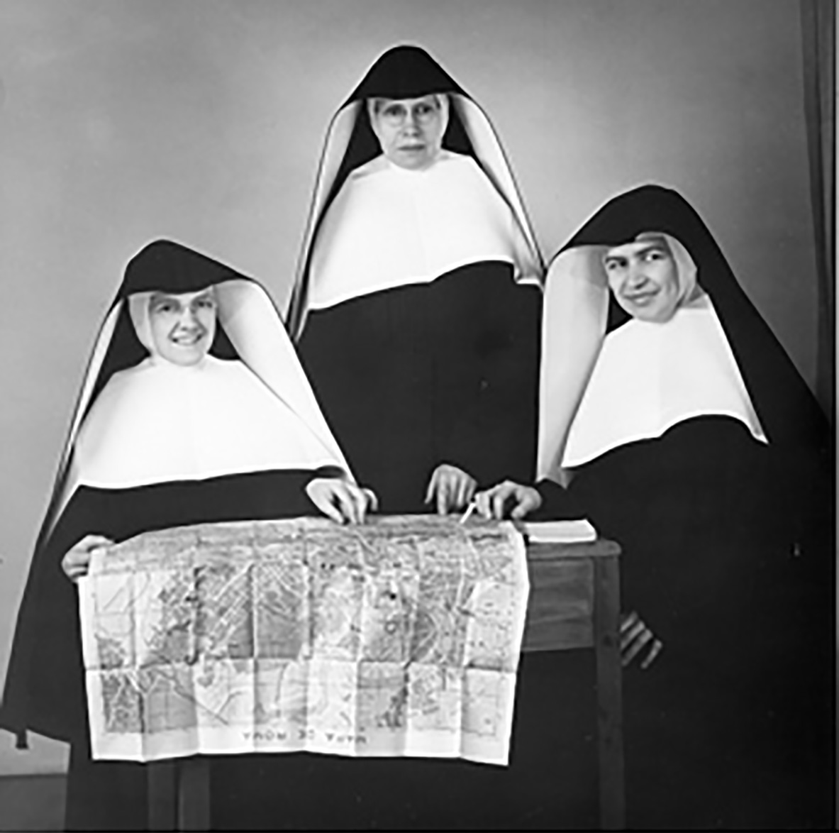 Sisters Lelia Pond, Mary Omer, and Cosma formed the first SSND community in Rome.