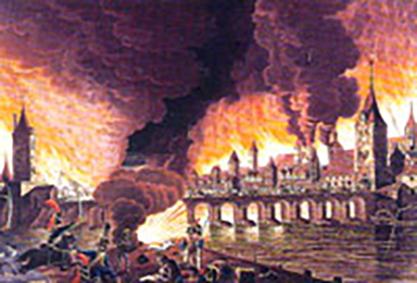 Regensburg burning