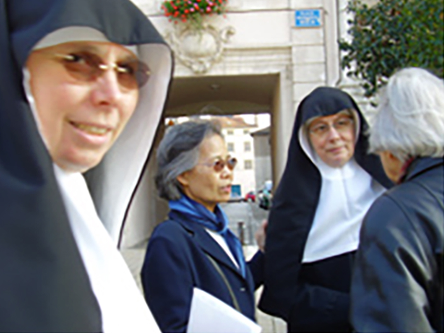 Representatives from the School Sisters of Notre Dame met in 2007 for the anniversary of Blessed Alix Le Clerc.