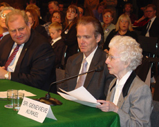 S. Genevieve Kunkel, SSND and Dr. David Snowdon testifying before Congress on March 23, 2004.