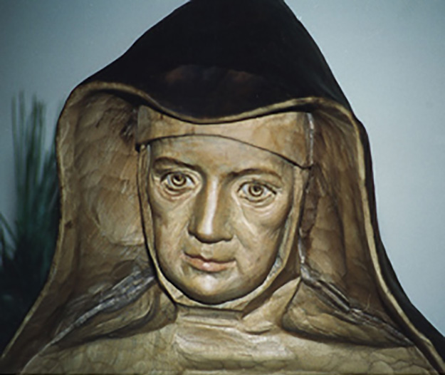 Statue of mother Theresa was a gift from the Polish province to the Sisters of Berlin.